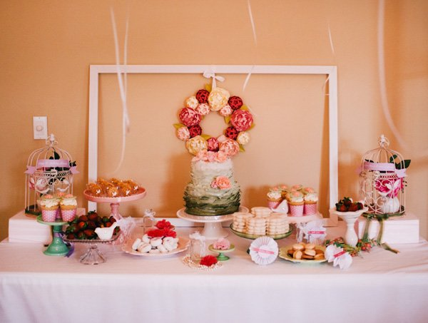 pretty peony dessert table
