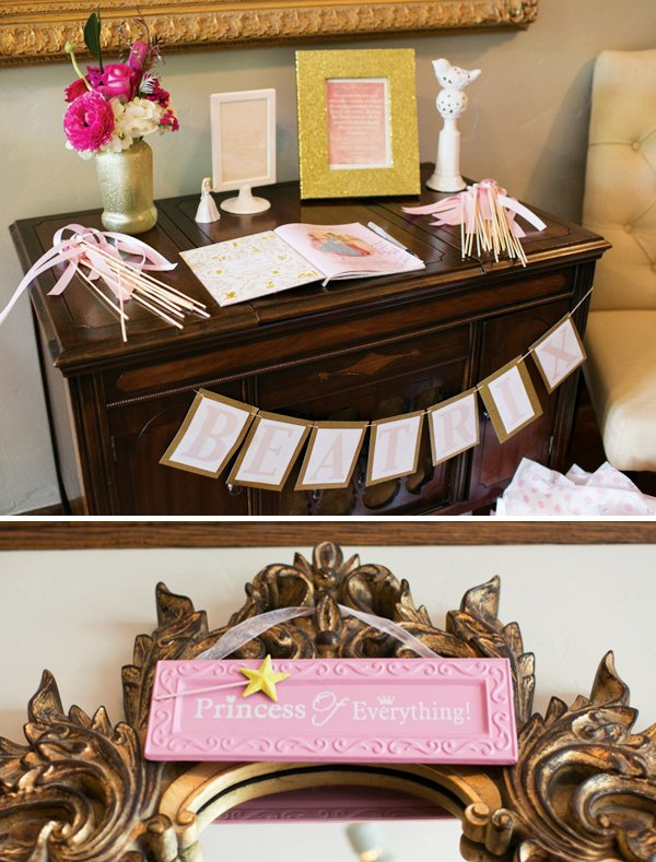 Cinderella Inspired Princess Themed Baby Shower Hostess With The
