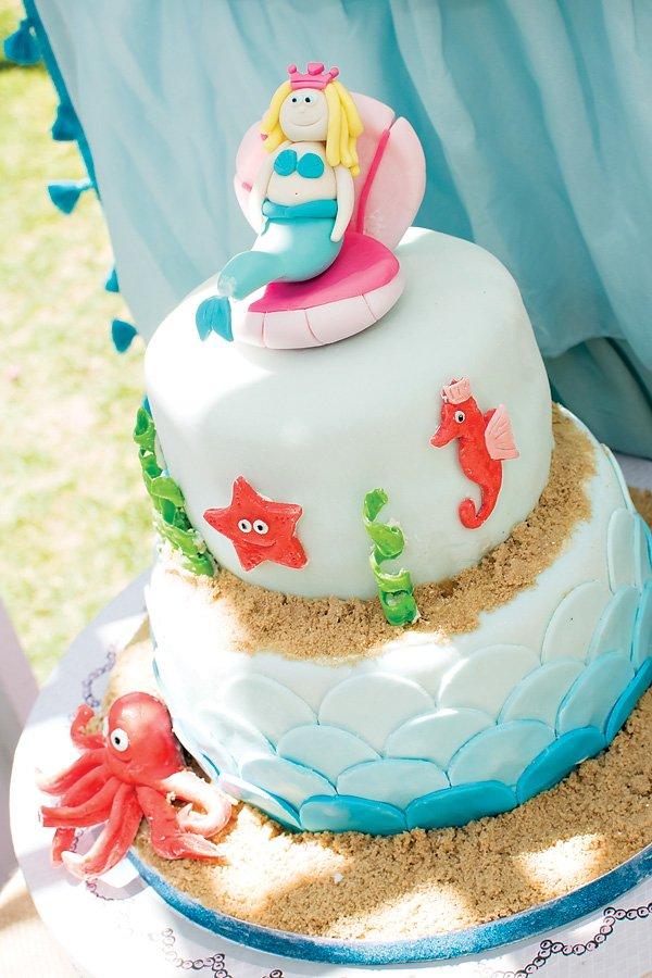 Princess mermaid birthday cake