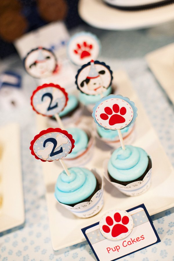 Puppy Party Cupcakes