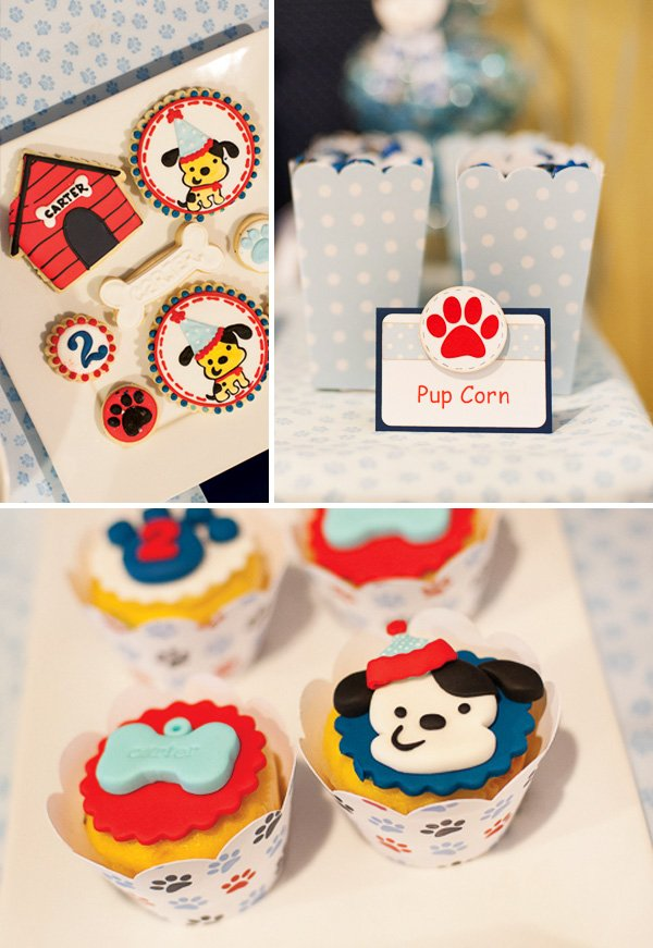 Cute Puppy Party Dessert Ideas