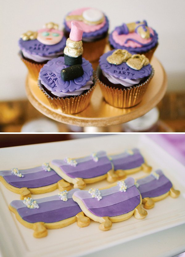 Ombre Purple Spa Themed Birthday Party Hostess with the Mostess
