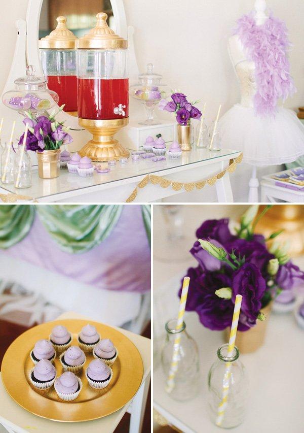 Mini purple cupcakes