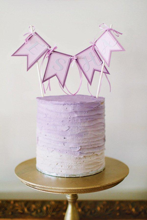 Purple ombre birthday cake