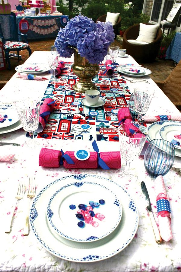 British inspired tablescape