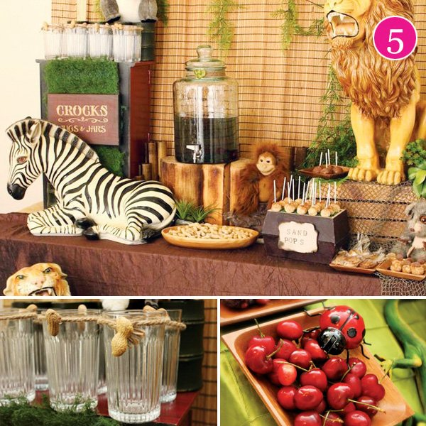 safari dessert table