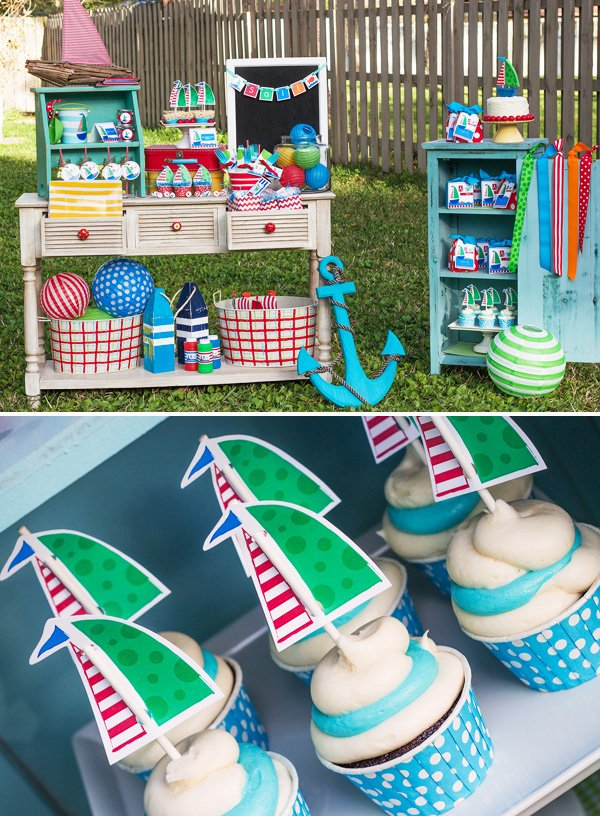sailboat dessert table