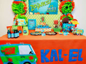 Orange and Green Scooby Doo Themed Birthday Party
