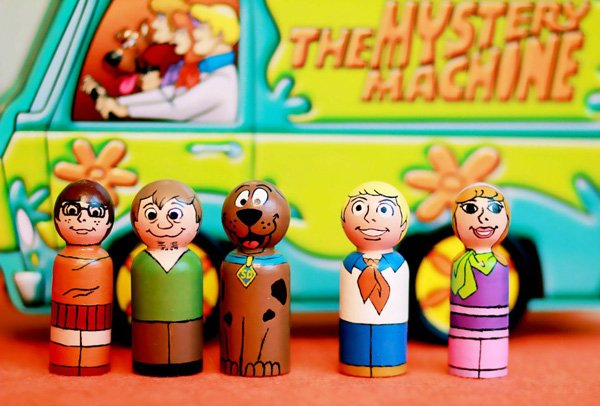 Scooby Doo Wooden Peg Dolls