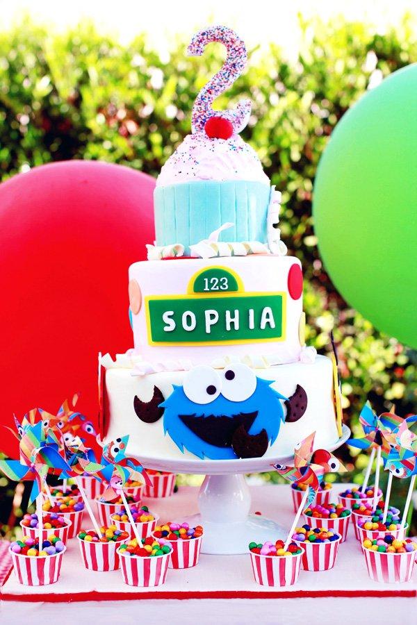 Fabulous Playful Girly Sesame Street Themed Birthday Party Hostess Personalised Birthday Cards Sponlily Jamesorg
