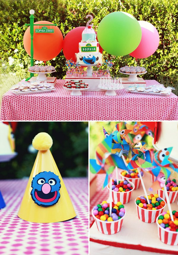 Sesame Street Inspired Dessert Table
