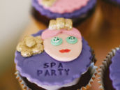 Spa Party Cupcake toppers