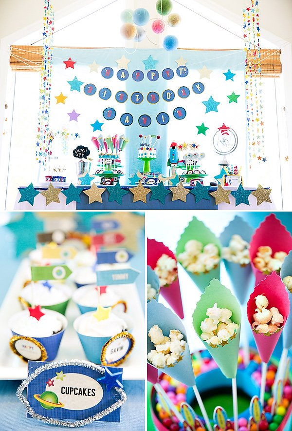 Stars and Planets Dessert Table