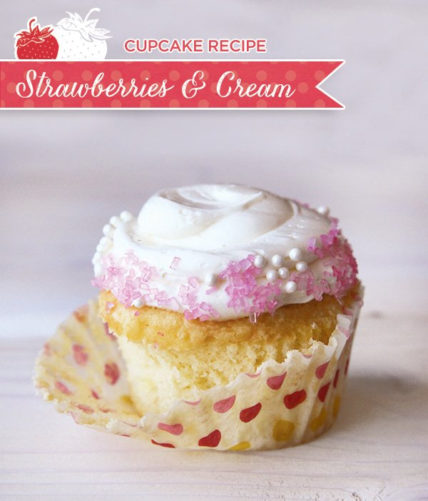 strawberries and cream cupcake recipe
