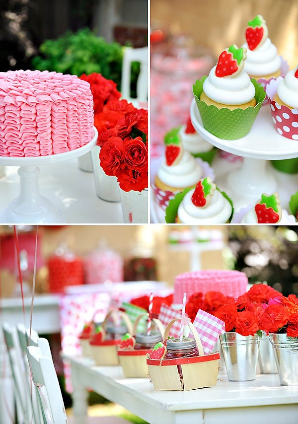 Pink and Red Strawberry Party