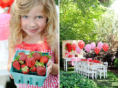 Cute Strawberry Picnic Party