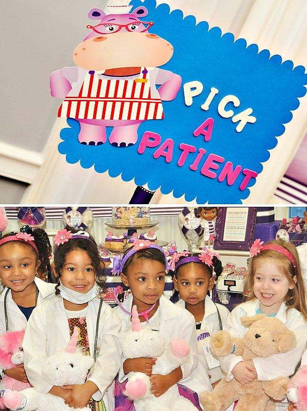 """Pick A Patient"" stuffed animal activity"