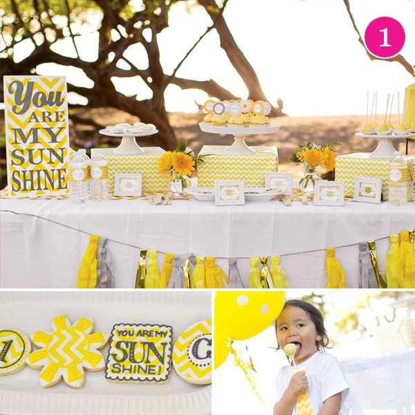 sunshine dessert table