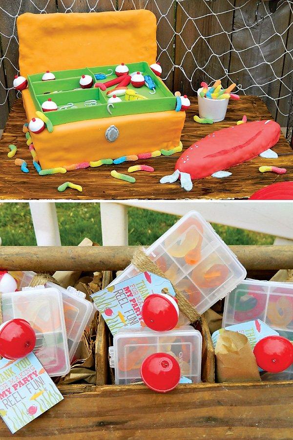 Tackle Box Birthday Cake