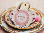Ballerina doily place cards