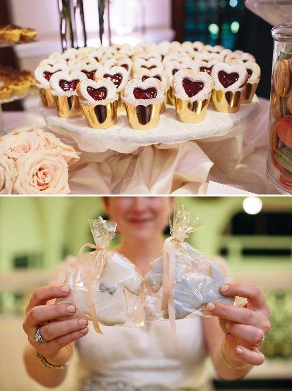 Terrier dog shaped wedding cookies
