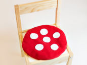 kid's toadstool cushion diy tutorial
