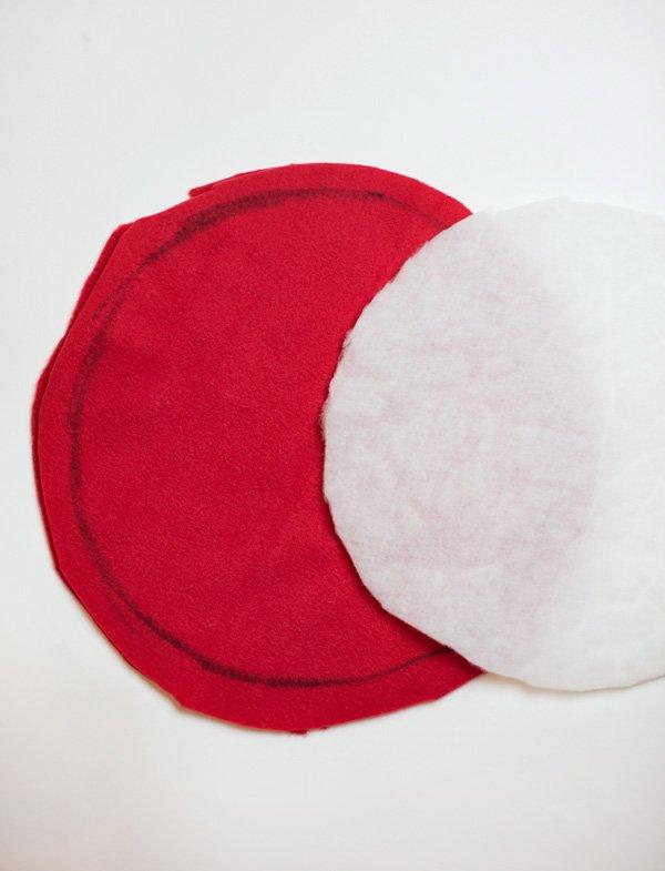kid's toadstool cushion diy tutorial