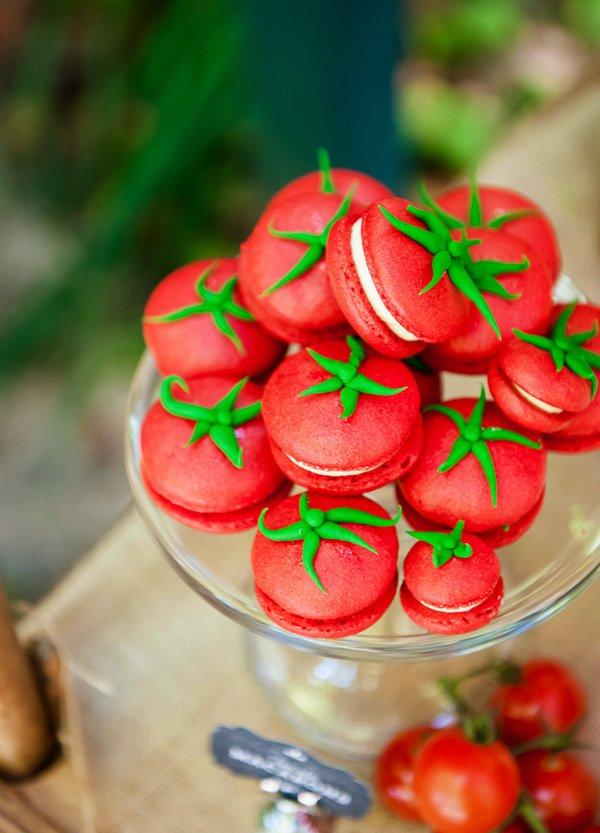Tomato Inspired Macarons