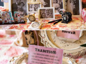 Vintage family photo display