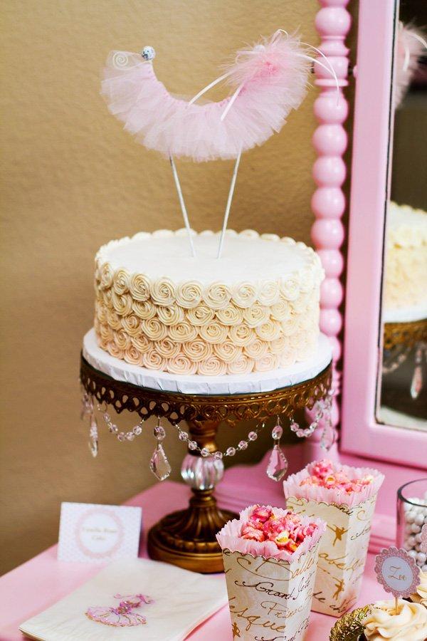 Tutu cake topper
