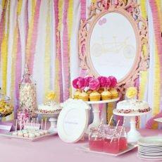 twin girls baby shower pink yellow