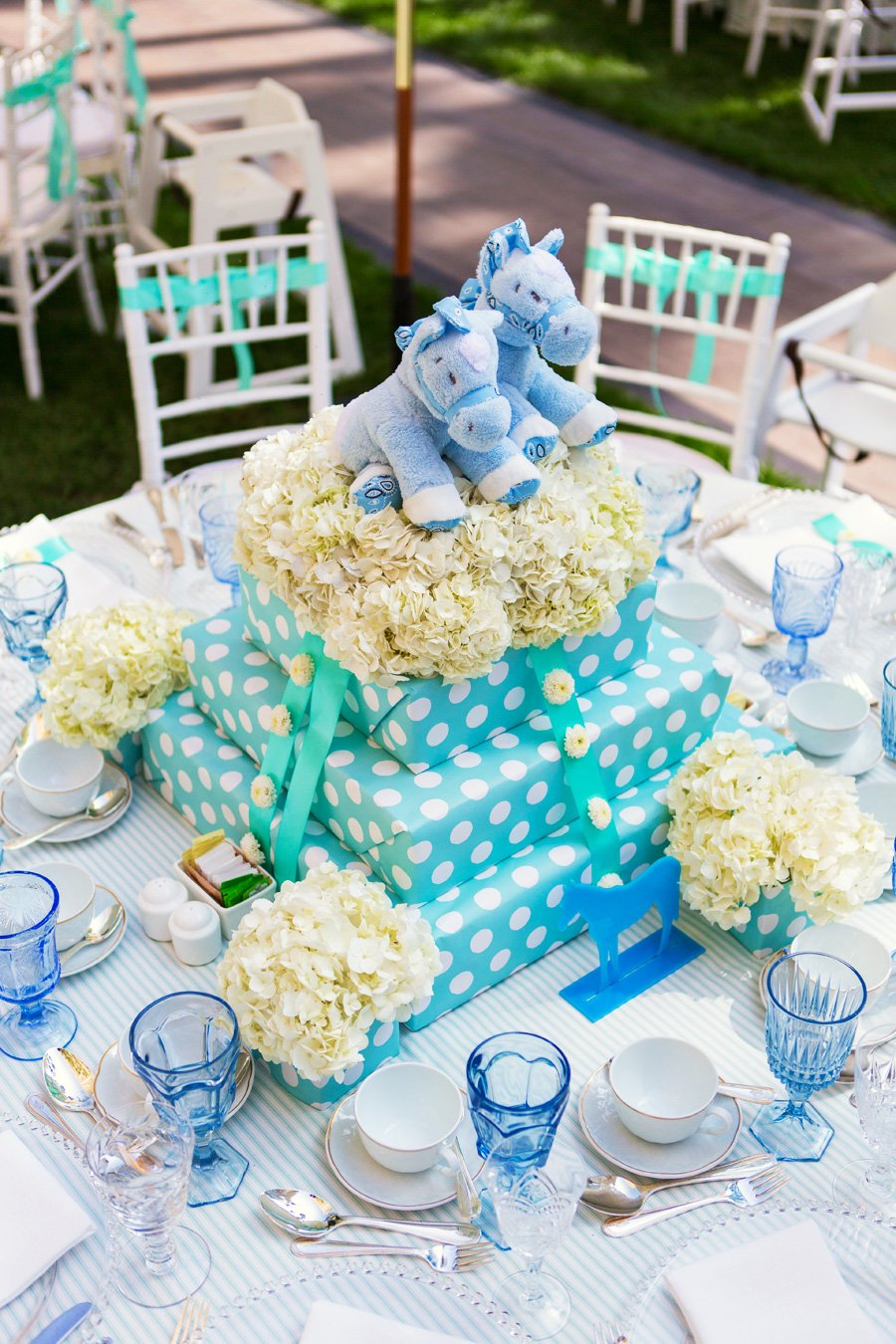 Twins birthday party centerpieces