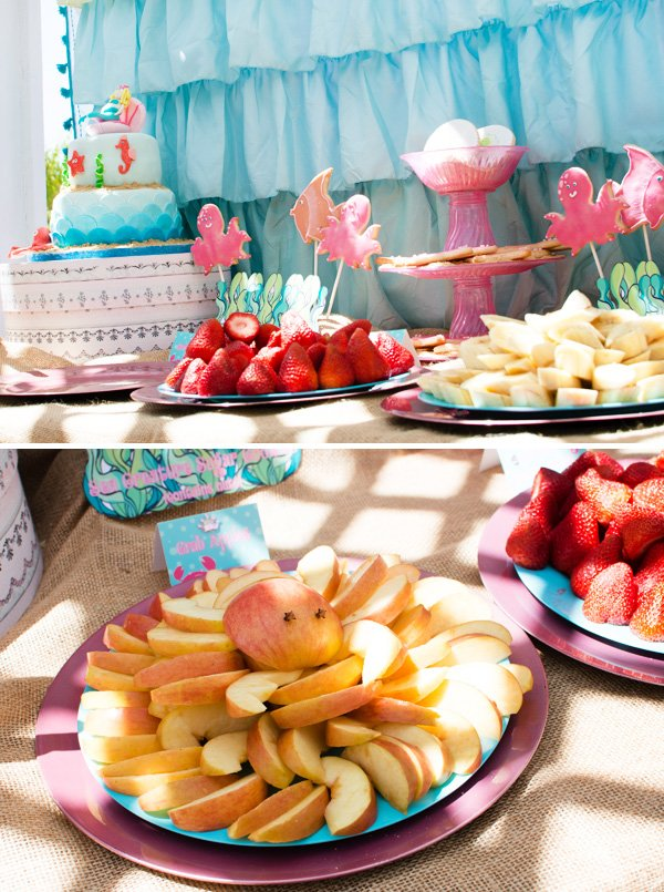 Ocean themed dessert table