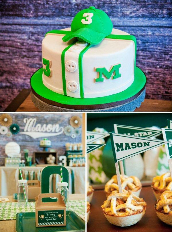 Baseball jersey birthday cake