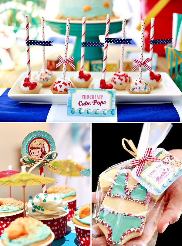 darling summery vintage beach baby shower hostess with the