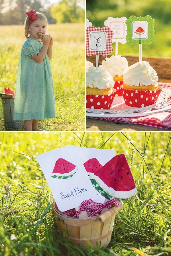 Pleasant Sweet Watermelon Picnic 2Nd Birthday Hostess With The Funny Birthday Cards Online Benoljebrpdamsfinfo