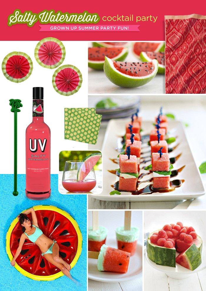 Watermelon Cocktail Party Ideas