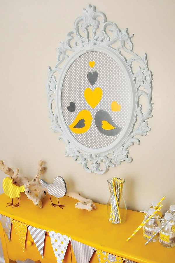 Nesting love bird theme baby shower