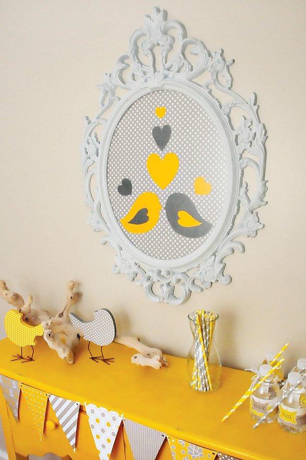 Nesting love bird theme baby shower