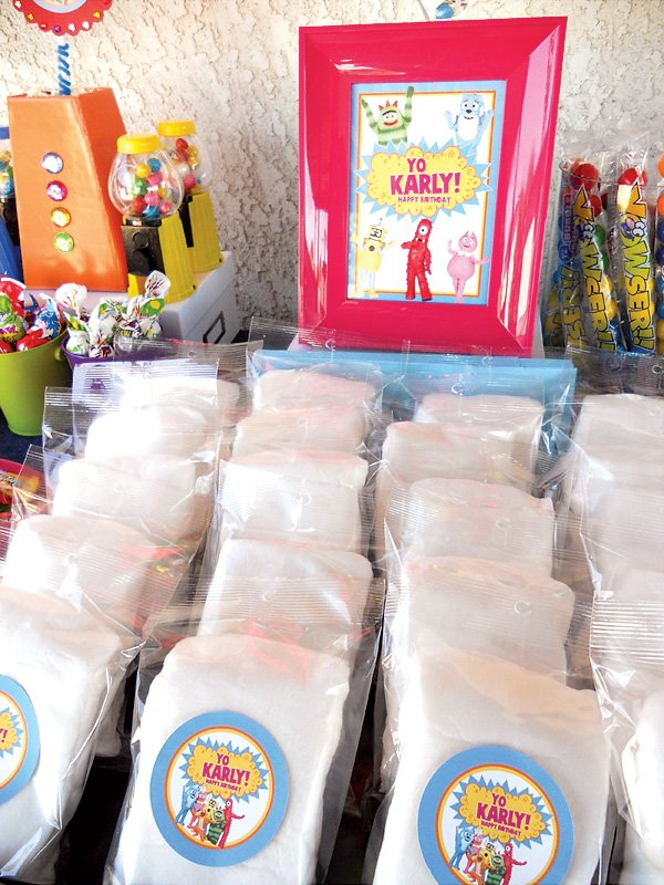 cotton candy for a yo gabba gabba birthday