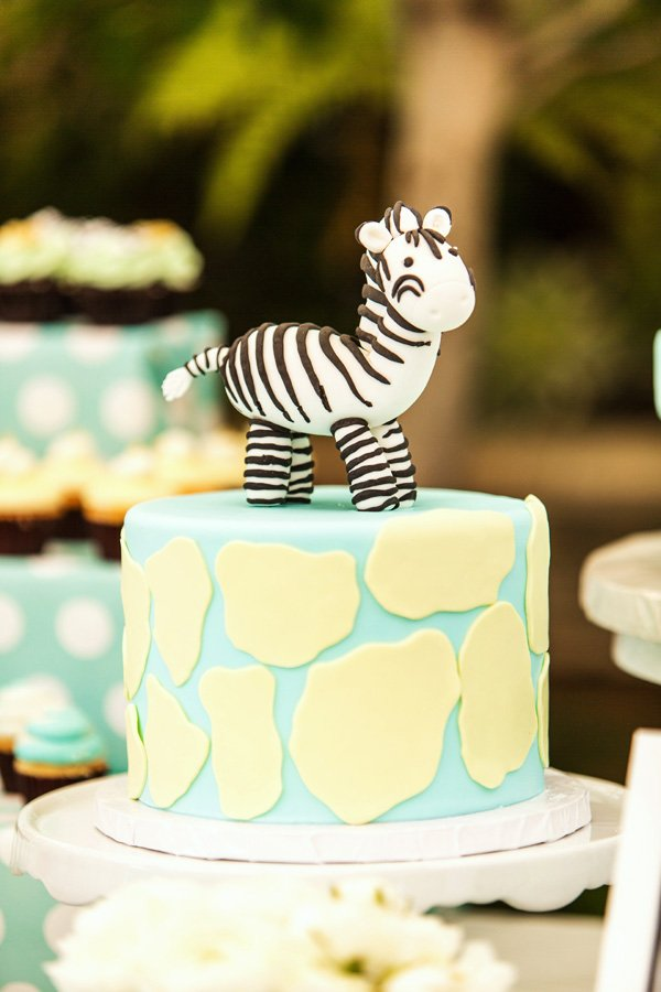 cute zebra cake topper