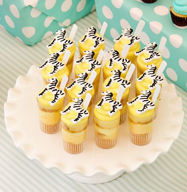 yellow zebra parfaits