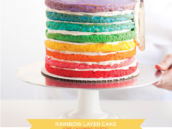 Rainbow Layer Cake DIY
