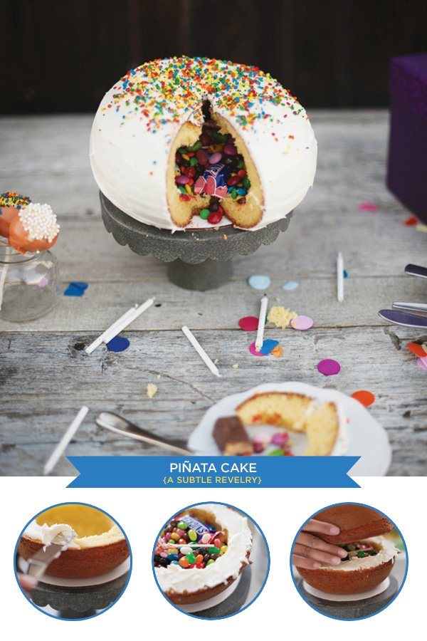 Pinata Birthday Cake Tutorial