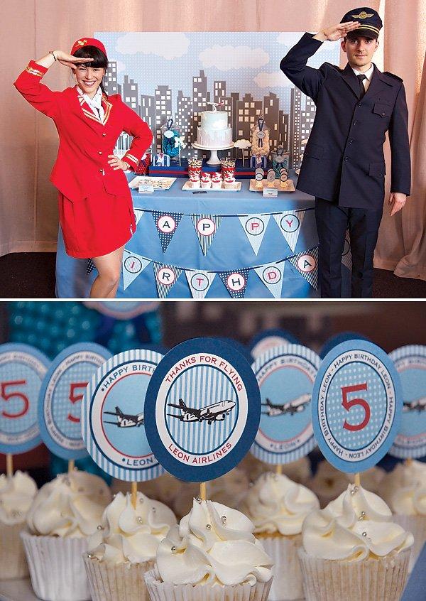 Airplane Themed Dessert Table