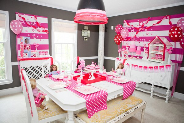 Pink American Girl Theme Party