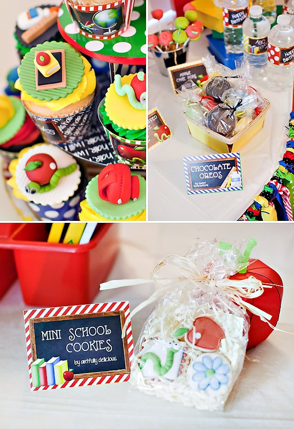 back to school party cookies