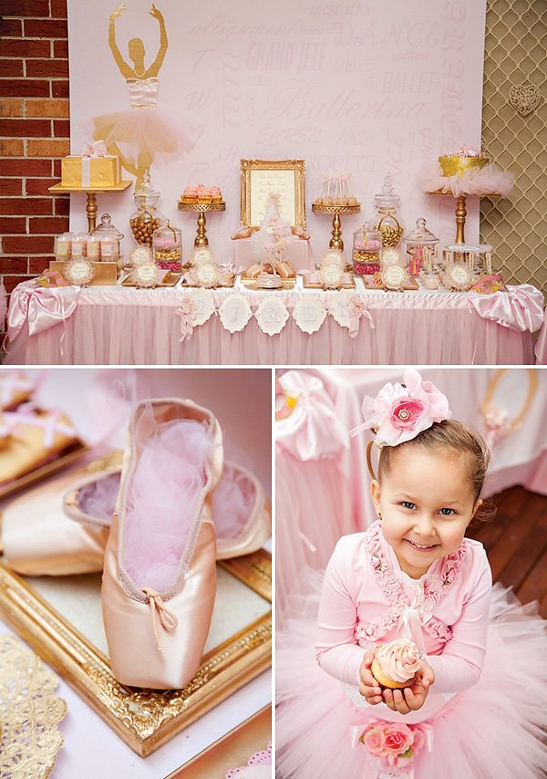 Pink Ballerina Dessert Table