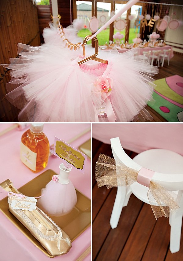 Gold Tulle Chair Bows
