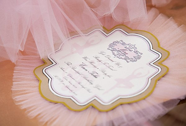 Ballerina Party Invitation with Tulle